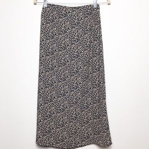 American Eagle animal print maxi skirt